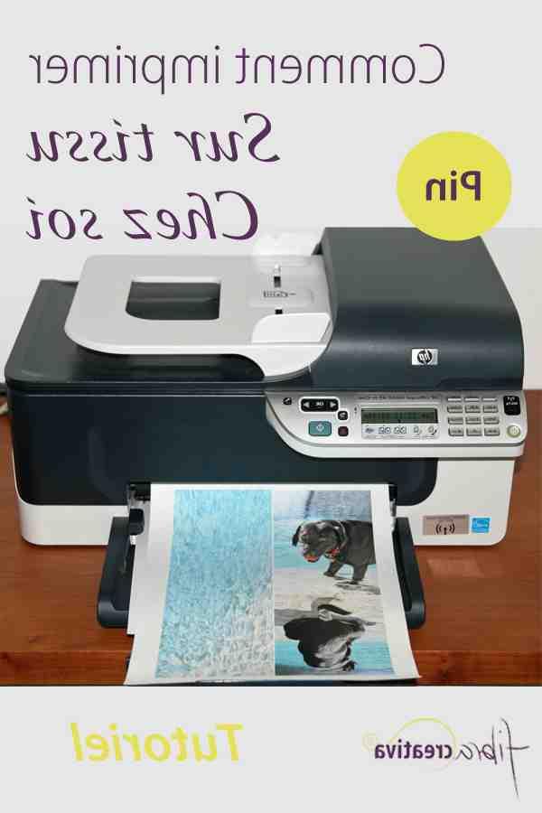 Comment imprimer un dessin sur un tissu ?