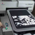 Machine impression textile
